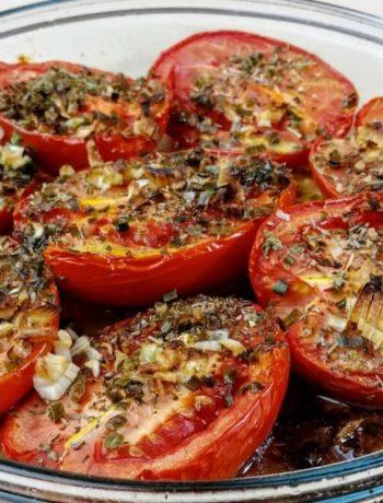 Tomates provençales vegan au four