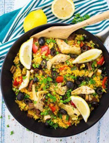 Paella vegan à l'espagnole