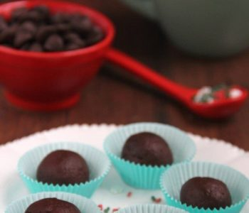 Truffes à la menthe poivrée au chocolat noir