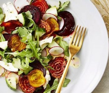 Salade croustillante de betteraves et mozzarella