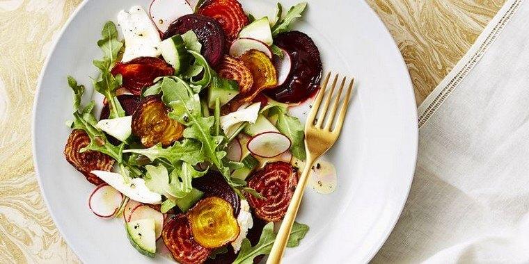 Salade croustillante de betteraves et mozzarella