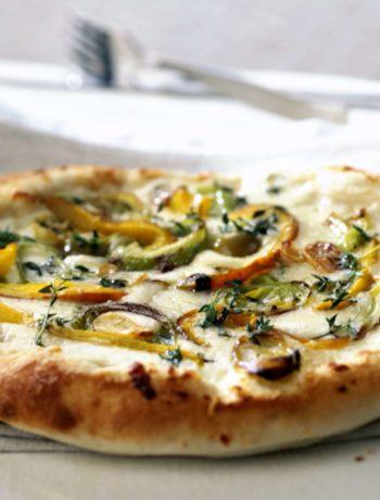 Pizza blanche végétalienne