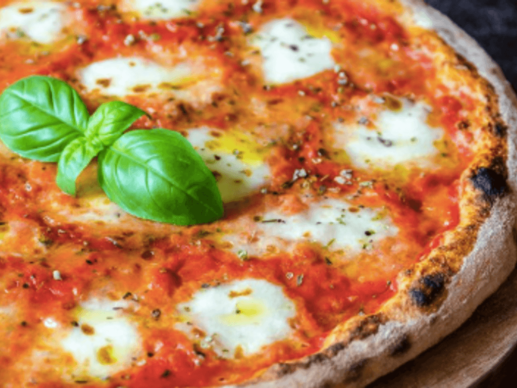 Pizza Margherita végétalienne