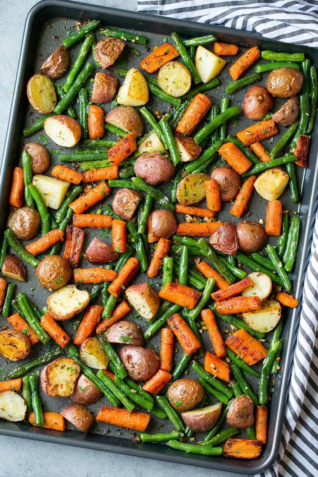 Légumes rôtis au thym