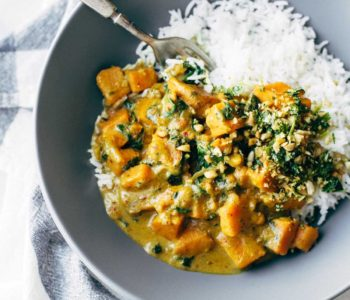 Curry de patate douce au saté