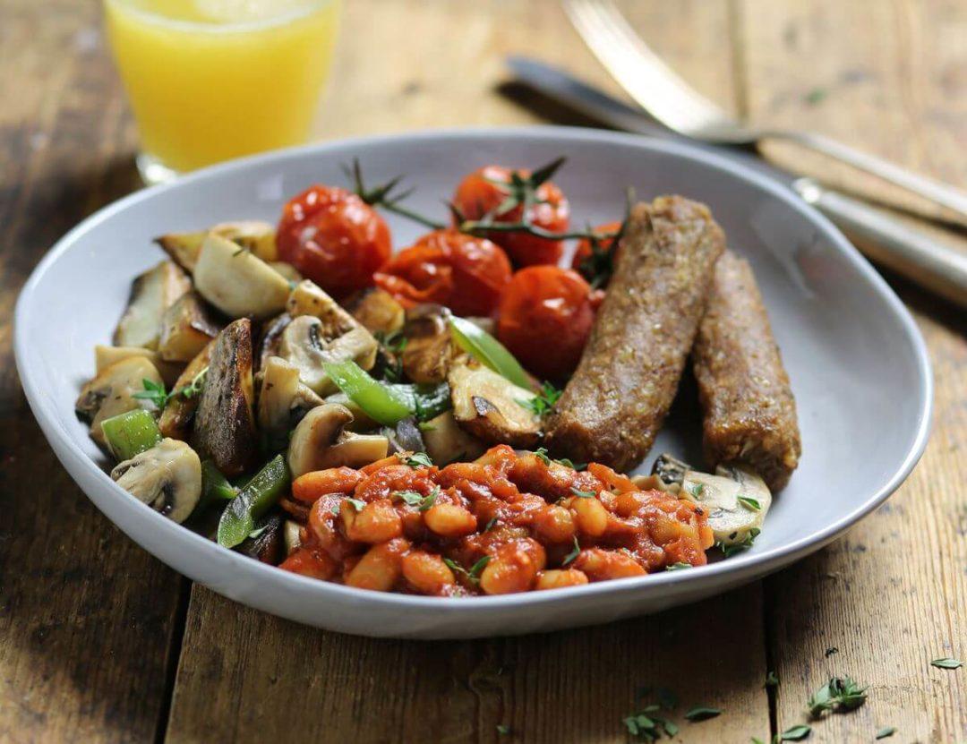 Petit déjeuner anglais Vegan (fry-up)