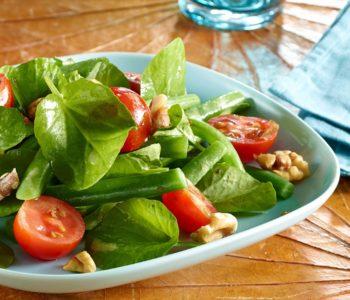 Salade de haricots, tomates et cresson