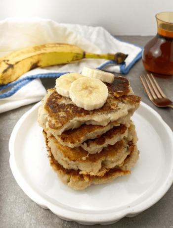 Pancakes à la noix de coco et à la banane