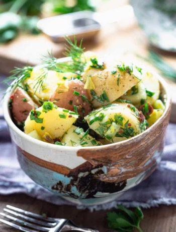 Salade de pommes de terre vegan