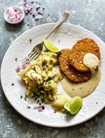 Schnitzels vegan à la sauce crémeuse