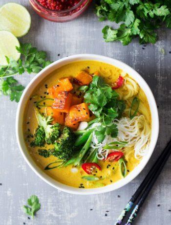 Khow suey vegan (soupe de nouilles)