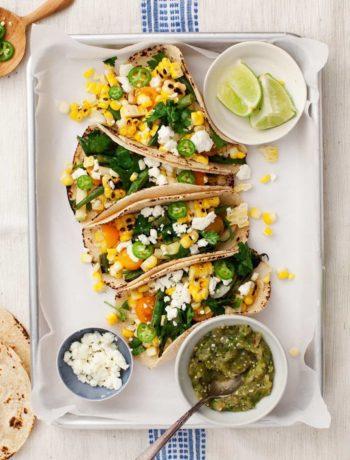 Tacos au maïs grillé