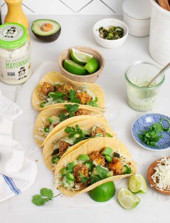 Tacos croustillants à la courge musquée et au poblano