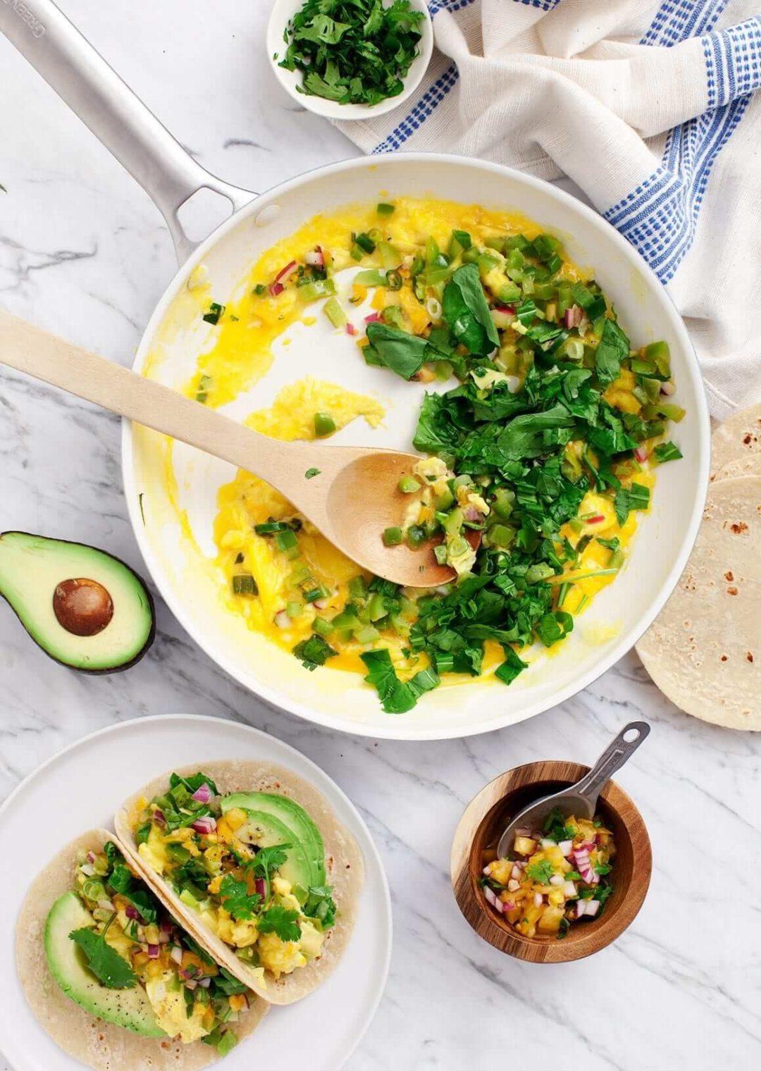 Tacos de petit déjeuner sain