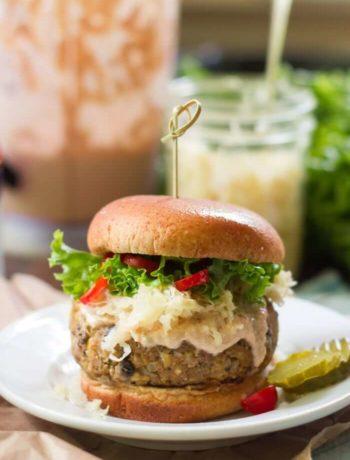 Burgers Reuben vegan