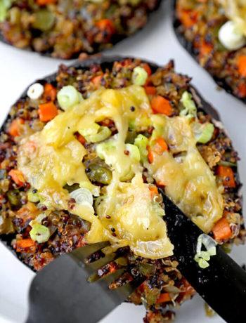 Champignons farcis au soja et au sésame Quinoa