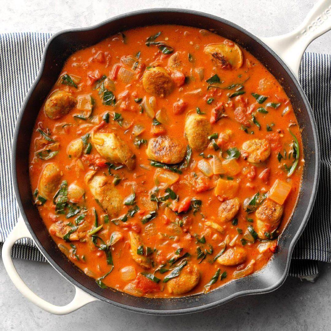 Curry de noix de coco et de tomate
