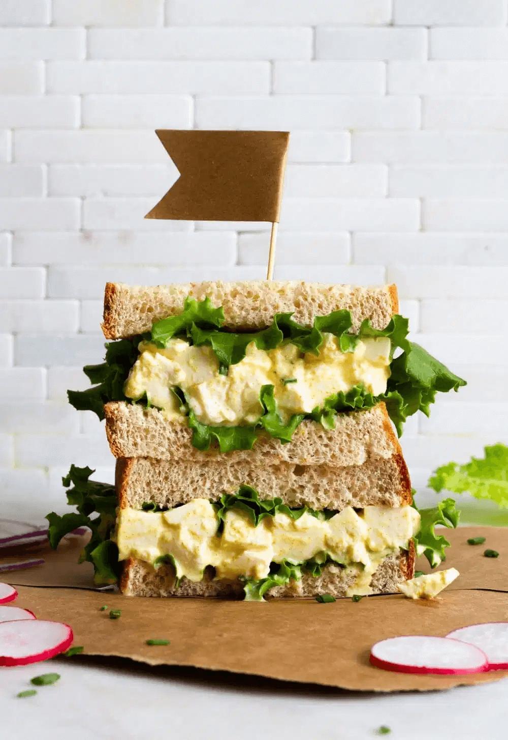 Sandwichs à la mayonnaise sans œuf