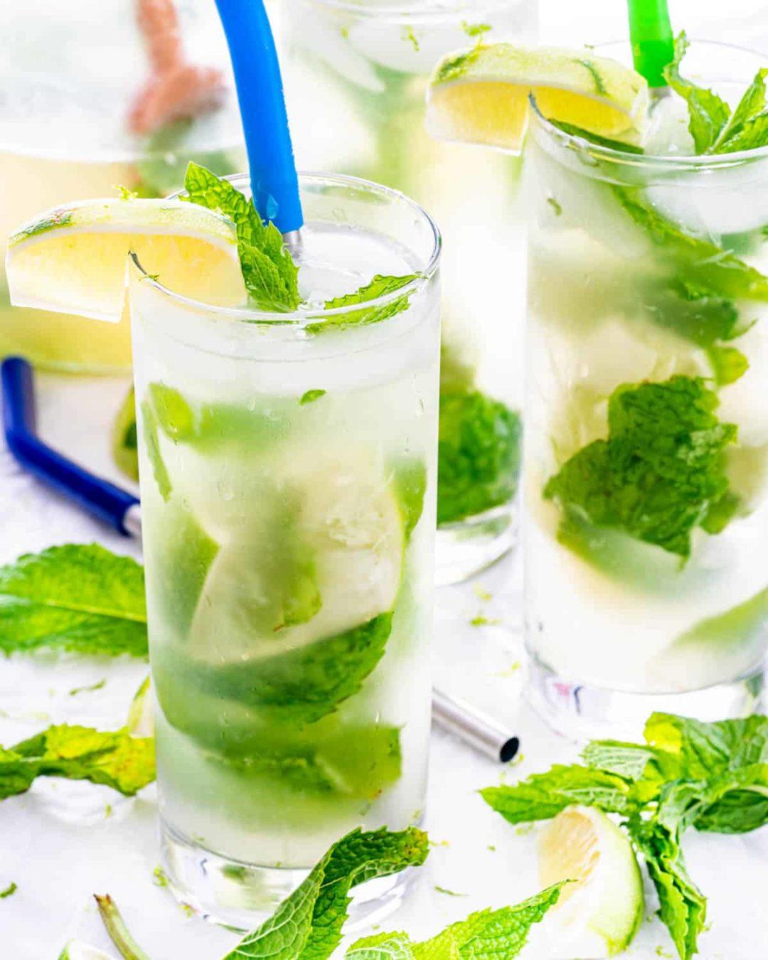 Cocktail Mojito à la menthe fraîche